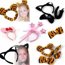 Fasching Karneval Kostüm Haarreif Ohren Fliege Set Katze Maus Tiere Kinder
