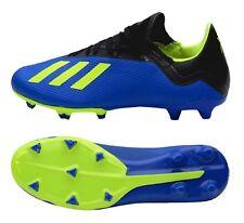 Adidas Hombres X 18.3 FG Botines Azul Zapatos De Fútbol De Cal Bota Spike  DA9335 642a1c39c9e94