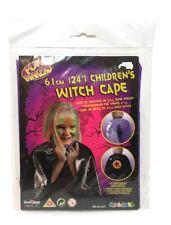 Witch Cape Boys Girls Fancy Dress Costume Girls Kids Outfit Fun 2 Design
