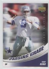 2007 Upper Deck First Edition Passing Grade #PG-TR Tony Romo Dallas Cowboys Card