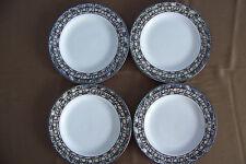 Set of 4 Mali salad bread dessert plates Sue Zipkin Vitromaster china stoneware