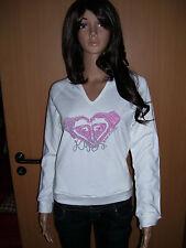 Roxy Jambori Damen Mädchen Pullover Sweatshirt Hoody weiß weiss XS M Neu