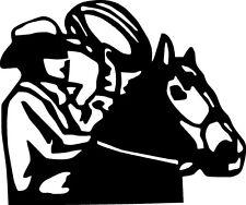 cowboy horse rope hat cow calf rodeo range star   VINYL DECAL STICKER 220