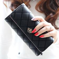 Fashion Women Clutch Long Purse Leather Billfold Wallet Card Holder Handbags US
