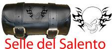 Borsa moto Barilotto 20 x10 Teschio tribale skull Satteltasche street bob Saddle