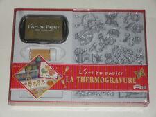 kit de thermogravure ( 10 tampons transparents+1 encreur +10gr de poudre or)