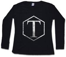 Torchwood Classic Logo da Donna Manica lunga T-shirt TV Series DOCTOR WHO SIMBOLO sign