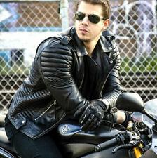 Men's Boda Skin Motorcycle Biker Black Real Leather Jacket (All Sizes)