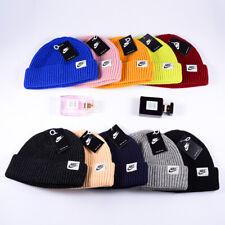 Nike Adult Knitted Mens Urban Short Peak Stretch Fit Beanie Hat Black Winter Cap