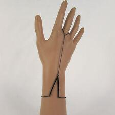 Classic Women V Shape Bracelet Fashion Jewelry Chain Slave Ring Gold Black Color