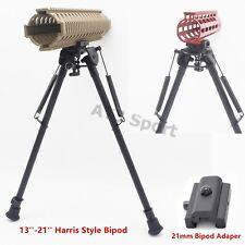 "13""-21'' Long Harris Bipod Tactical Rifle Heavy Duty Swivel Pivot W/O Adapter"