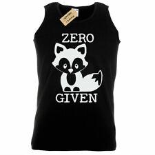 Mens ZERO FOX GIVEN T-Shirt funny joke rude gift foxes Tank Top Vest