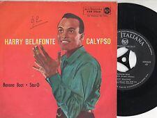 HARRY BELAFONTE disco 45 ITALY Banana boat + Star O STAMPA ITALIANA 2A copertina