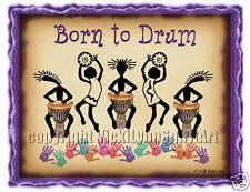 Born to Drum African Djembe drumming circle jam T-Shirt