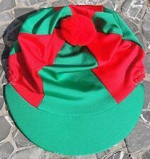 Equitazione Cappello seta Skull Cap Coperchio Verde   Rosso Con O W O pon  pon edb6e53dbc53