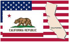 CALIFORNIA - USA MAP & FLAG - SOUVENIR FRIDGE MAGNET - BRAND NEW