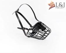 Strong Metal Winter Wire Rubber Basket Dog Muzzle Rottweiler Mastiff