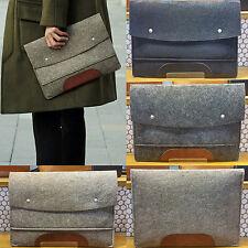 Korea Unique Style Fashion Wool Men Pad Clutch Bag Briefcases Pouch Wallet Men
