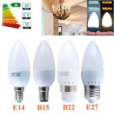 E14/E27/B22/B15 3W/5W LED Candle Chandelier Light Bulb Warm White Energy Saving