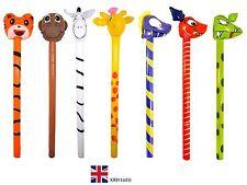 INFLATABLE DINOSAUR JUNGLE ANIMAL STICKS Kids Birthday Party Toy LARGE 118 cm UK