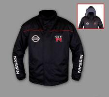 New Windbreaker Jacket Nissan GTR Racing Sport Embroidered Emblems, Hooded,S-3XL