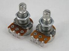 MINI ALPHA POTS Log A or Linear B 250k Volume Tone Potentiometers for Guitars