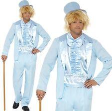 UOMO ANNI 90 ANNI '90 Dumb Guy smoking Costume blu da SMIFFYS NUOVO