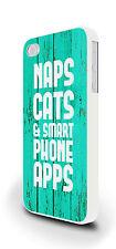 PAN Gatti divertente slogan Cover per iPhone 4 / 4S 5 / 5S 5C 6 PLUS