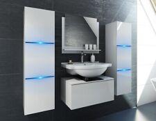 Badezimmer Möbel Badmöbel Unterschrank ohne Waschbecken Weiß Hochglanz Bomber
