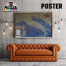 POSTER MAPPA ITALIA ITALY OLD CARTA FOTOGRAFICA QUALITA' 35x50 50x70 70x100