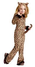 Pretty Leopard Child Girls Costume Cat Print Jumpsuit Halloween Funworld