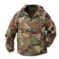 Woodland Camo Combat Anorak - Pullover Smock Hooded Fleece Winter Windproof New