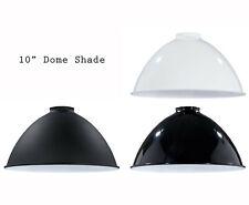 """Porcelain Enamel Shade: 10"""" Metal Dome Shade, 2.25"""" fitter for Pendant Lighting"""