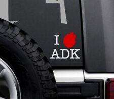 I Love ADK Adirondack Park Car Vinyl Decal Sticker