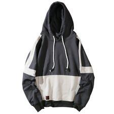 Men Fashion Hooded Tops Pullover Hoody Hoodies Loose Fit Hip Hop Harajuku Style