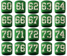 #60-79 Number Sweatband Wristband Football Baseball Basketball Green Money Print