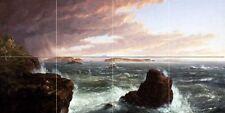 Seascape sea wave rock T. Cole Tile Mural Bathroom Backsplash Art Marble Ceramic