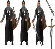 Faschingskostüm Ritter Kostüm 5 Teile XL Mittelalter König Fürst Schwert wählbar