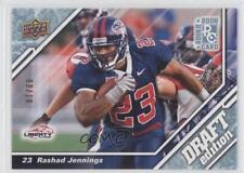 2009 Upper Deck Draft Edition Blue #127 Rashad Jennings Liberty Flames Card