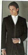 Black Tuxedo Coat Jacket Zodiac 'Zipper' by Fumagalli-All Sizes Prom Wedding Tux