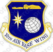 STICKER USAF 10TH AIR BASE WING