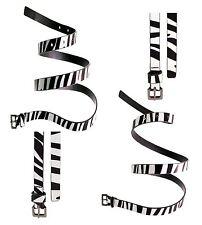New Ladies Zebra Patent Animal Print Thin Strap Waist Plus Size Belts 16-30