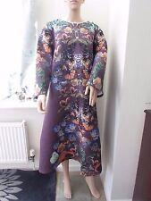 ASOS CURVE A-Line Mini Skater Dress Botanical Flora  28   Purple/Multi