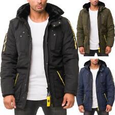 Cipo & Baxx Herren Winter Jacke Kapuze Parka Kunstfell Streetwear Style Warm