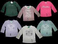 Longsleeve Shirts Benetton rosa oliv rot flieder creme 68 74 80 86 92  NEU