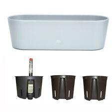 Set5 Kunststoff Flori Pflanzschale silber für Hydrokultur