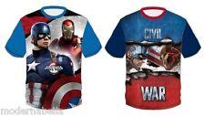 Avengers Capitan America maglietta T-shirt Manica corta Bambino  3 4 6 8 anni