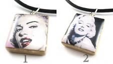 Marilyn Monroe Scrabble Tile Pendant Necklace (YOU CHOOSE image 1 or 2)