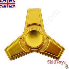 Dito Spinner Fidget Toy in Metallo 3 LAME Premium Si3n4 cuscinetto in ceramica-UK Venditore