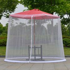 Sun Protection Mosquito Net Table Umbrella Cover Zipper Closure Sunscreen Patio